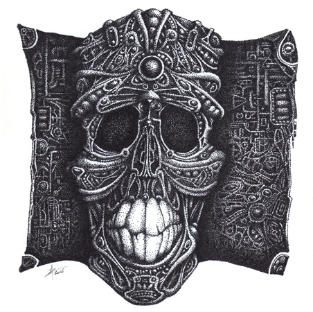 Skull Steampunk Dots
