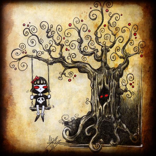 LONELINESS & the tree, doek, print, canvas