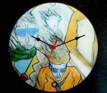 Glazen klok, collector's item, toegepaste kunst
