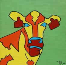 Popart, pop art, pop-art, pop art cow, popart cow, pop-art cow