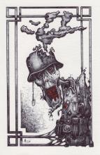 Wehrmacht, tekening, bic, papier