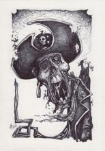 Zombie Pirate Balpen zwart